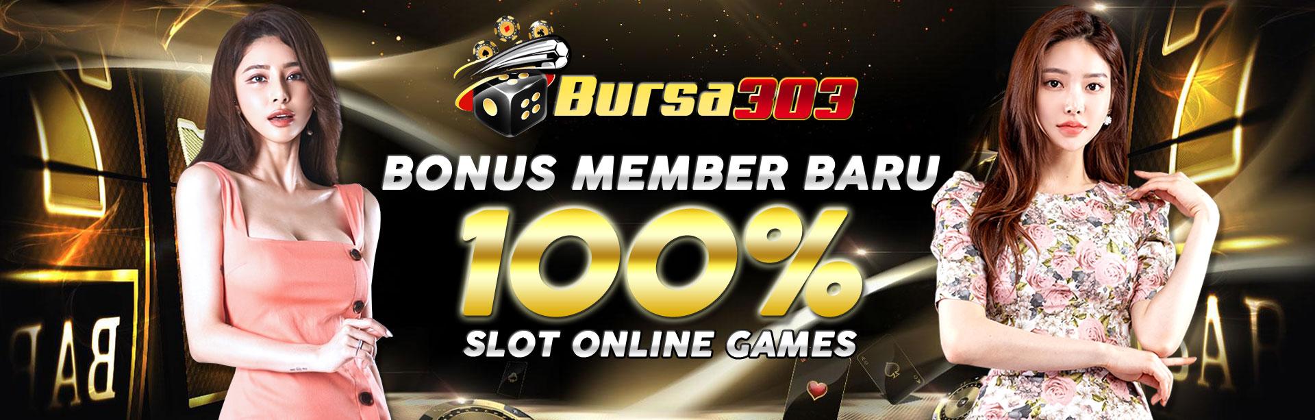 bonus 100% judi slot online